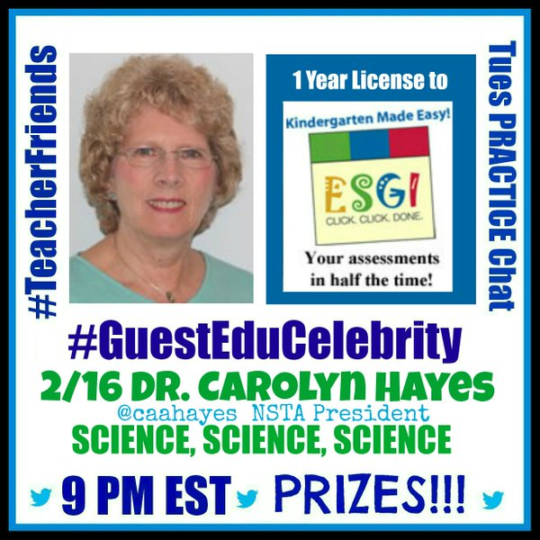 Don't Miss this STEM Chat! Dr. Carolyn Hayes, NSTA President!