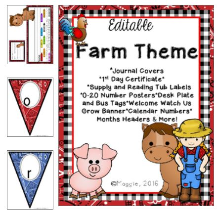 farm theme bundle