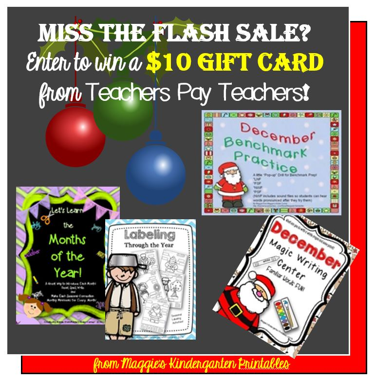 It's a TPT Cyber Monday-Tuesday Sale and a $10 GC Giveaway!!!