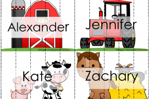 In Kindergarten, What's IN a NAME? Free Editable