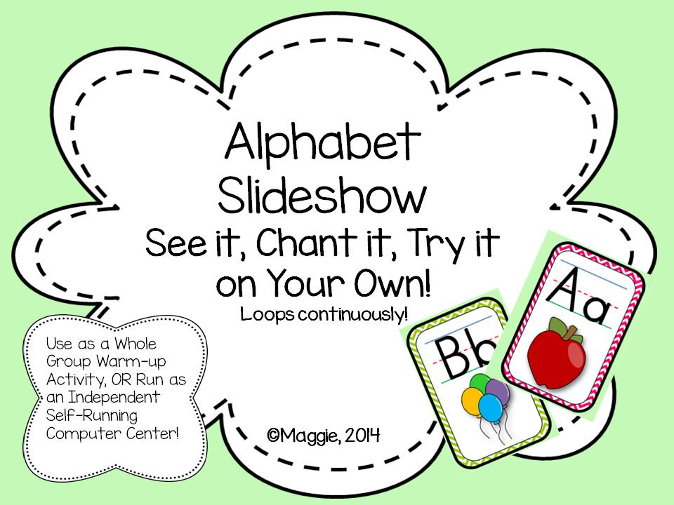 Self-Running Slideshow with Audio for Alphabet Center