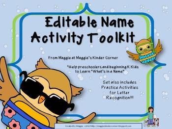 Editable Name Toolkit with Alphabet Practice